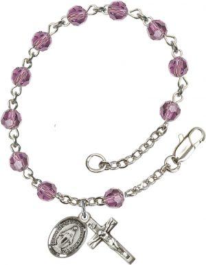 5mm Light Amethyst Swarovski  Rosary Bracelet