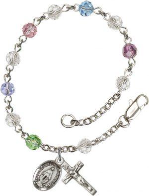 5mm Multi-Color Swarovski  Rosary Bracelet