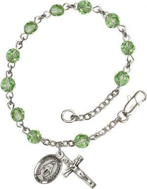 5mm Peridot Swarovski Rosary Bracelet