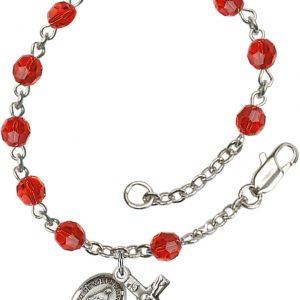 5mm Ruby Swarovski  Rosary Bracelet