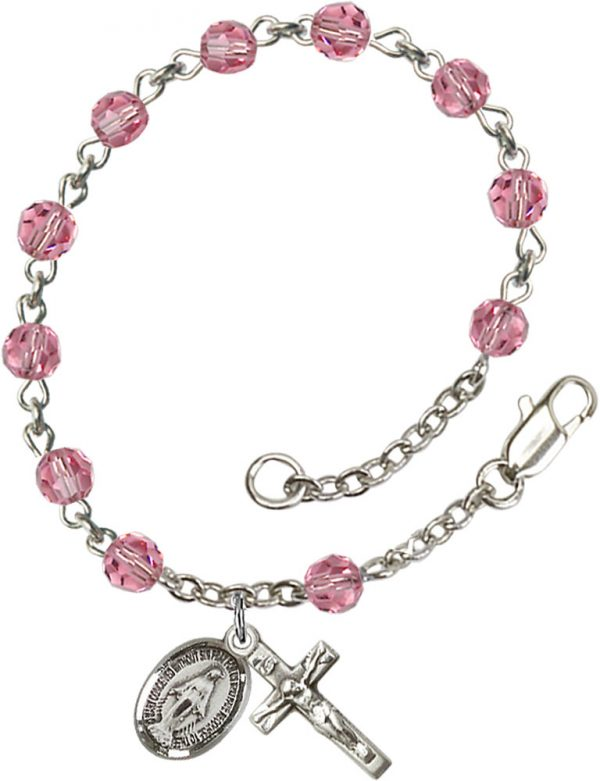 5mm Rose Swarovski  Rosary Bracelet