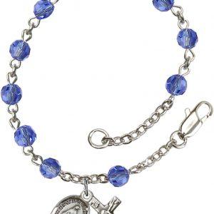 5mm Sapphire Swarovski  Rosary Bracelet