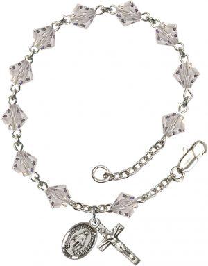 6mm Crystal Swarovski Rundell  Rosary Bracelet
