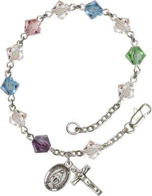 6mm Multi-Color Swarovski Rundell  Rosary Bracele