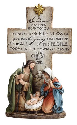 Holy Family w/cross - Savior is Born