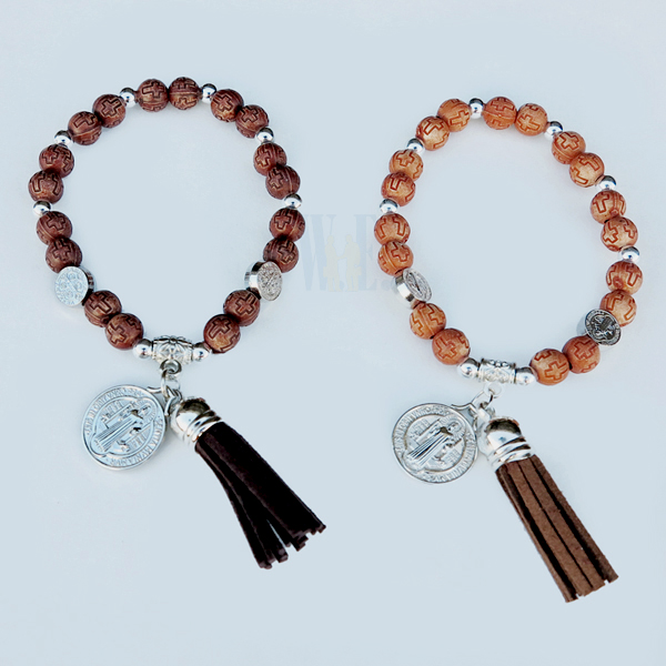 bracelet - brown benedict - w/tassel