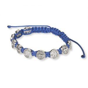 Bracelet - St. Benedict blue cord